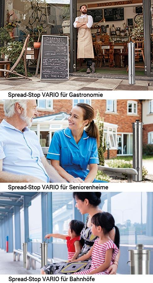 Spread-Stop VARIO für Gastronomie, Seniorenheime, Bahnhöfe und Flughäfen