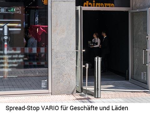 Spread-Stop VARIO– der variable Desinfektionsmittelspender für draußen