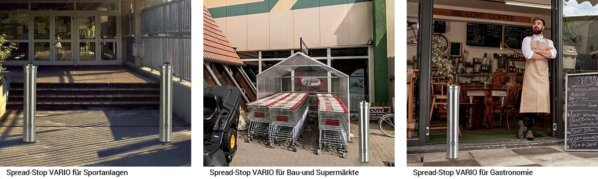 Spread-Stop VARIO: Die einfache Befestigung auf allen gängigen Böden